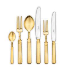 Набор столовых приборов (72 предмета / 12 персон) Cutipol LINE Matte Gold Brushed арт. L.72 GB