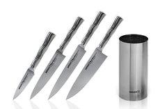 Набор из 4 ножей и подставки Samura Bamboo в подарочной коробке SBA-05/Y