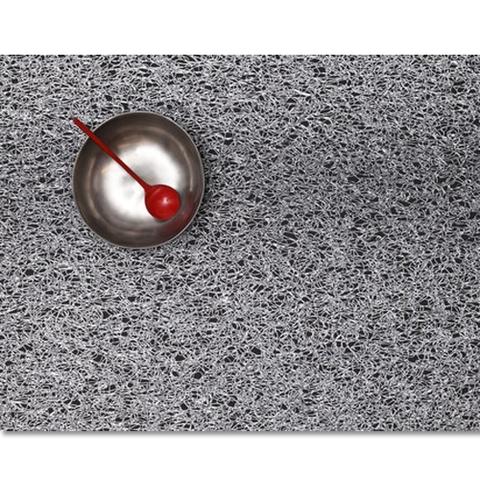 Салфетка подстановочная, жаккардовое плетение, винил, (36х48) Silver (100148-001) CHILEWICH Metallic lace арт. 0209-MTLC-SILV