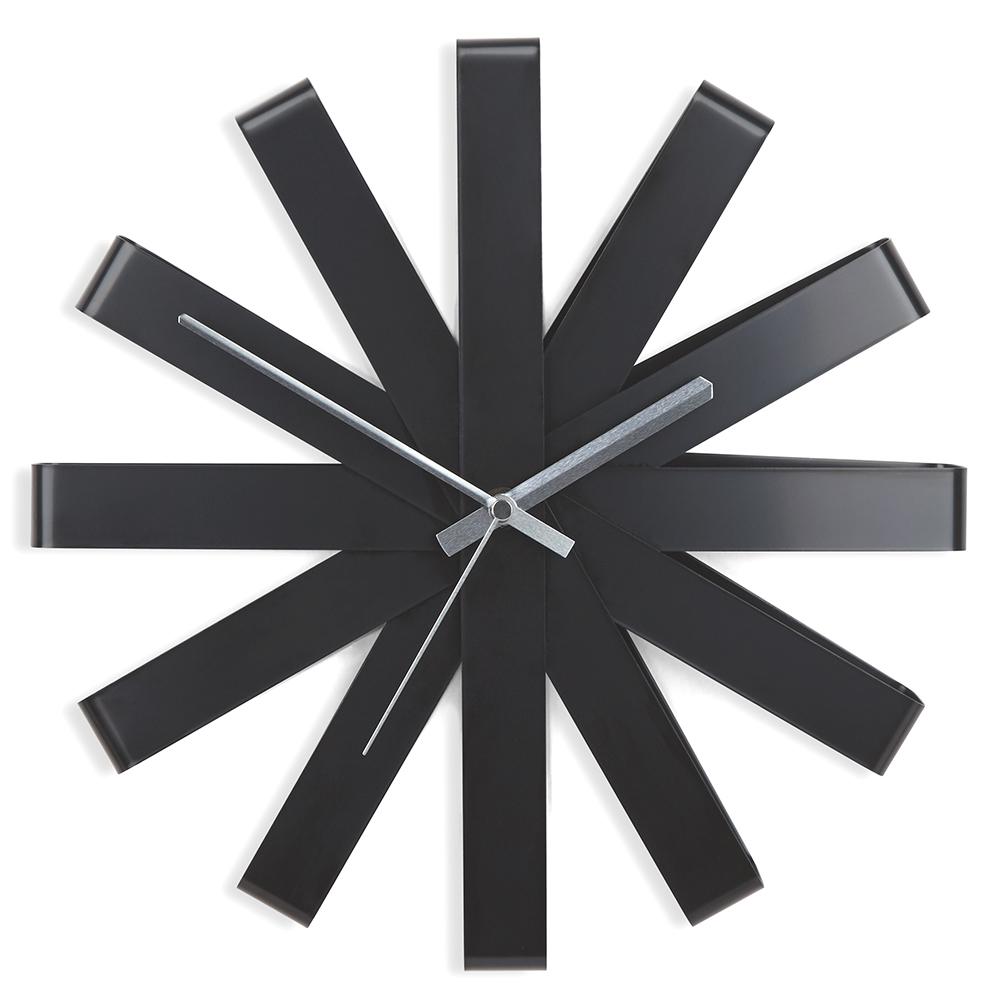 Часы настенные Ribbon чёрныe Umbra 118070-040 фото