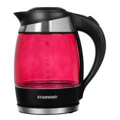 Чайник электрический Starwind (1,8 литра) 2200 Вт, LED подсветка, розовый SKG2214