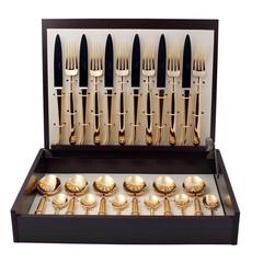 Набор столовых приборов (24 предмета / 6 персон) Cutipol CARRE GOLD 9131