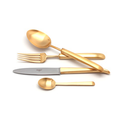 Набор столовых приборов (24 предмета / 6 персон) Cutipol CARRE GOLD 9132