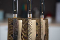 Комплект из 3 ножей (37 слоев) YAXELL Zen и подставки
