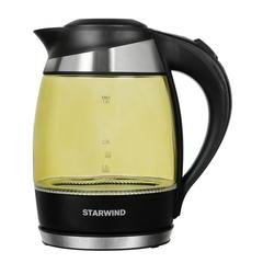 Чайник электрический Starwind (1,8 литра) 2200 Вт, LED подсветка, желтый SKG2215
