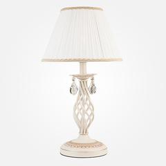 Настольная лампа Eurosvet Amelia 10054/1 белый с золотом/прозрачный хрусталь Strotskis