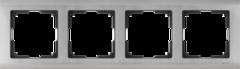 Рамка на 4 поста (глянцевый никель) WL02-Frame-04 Werkel