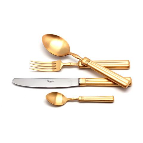 Набор столовых приборов (24 предмета / 6 персон) Cutipol FONTAINEBLEAU GOLD 9162