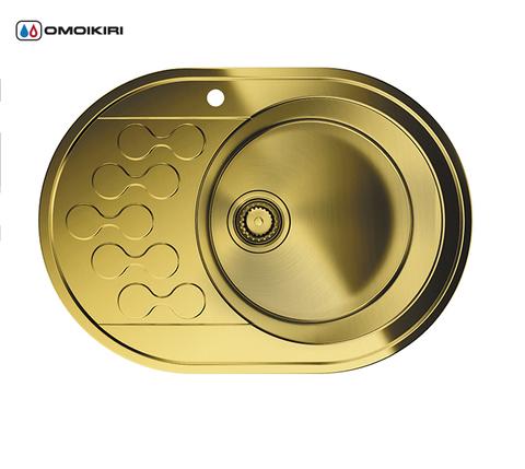 Кухонная мойка из нержавеющей стали OMOIKIRI Kasumigaura 65-1-AB-R (4993069)