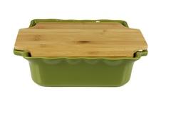 Форма с доской квадратная 34,5 см Appolia Cook&Stock DARK GREEN 130034505