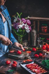 Нож кухонный Сантоку 180мм Samura Mo-V SM-0094/K*