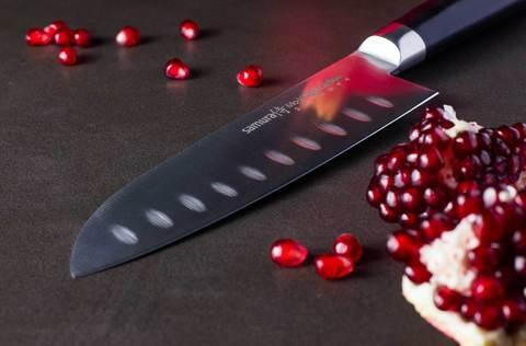 Нож кухонный стальной Сантоку Samura Mo-V SM-0094/G-10