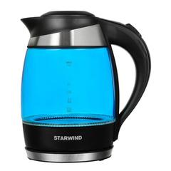 Чайник электрический Starwind (1,8 литра) 2200 Вт, LED подсветка, синий SKG2216