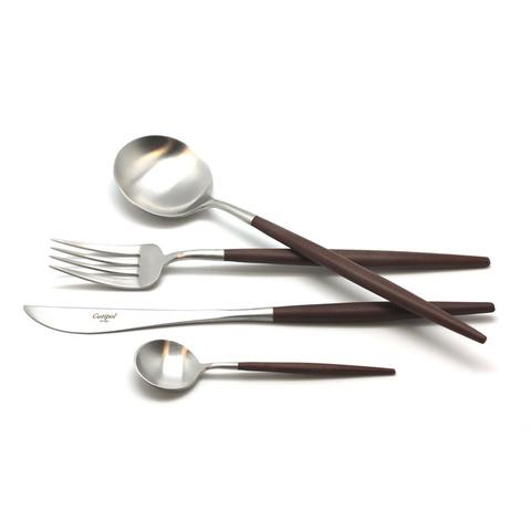 Набор столовых приборов (24 предмета / 6 персон) Cutipol GOA BROWN 9263