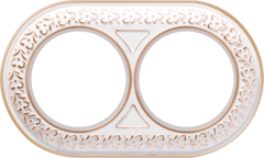 Рамка на 2 поста (белое золото) WL70-frame-02 Werkel