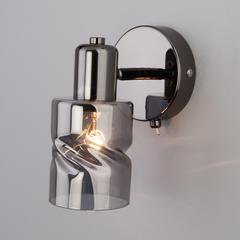 Настенный светильник с выключателем Eurosvet Ansa 20120/1 чёрный жемчуг