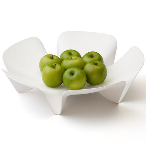 Ваза для фруктов flower белая QL10041-WH