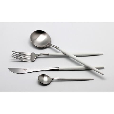 Набор столовых приборов (24 предмета / 6 персон) Cutipol GOA WHITE 9264