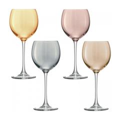Бокал для вина Polka 4 шт. металлик LSA G932-14-960