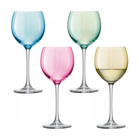 Бокал для вина Polka 4 шт. пастельный LSA G932-14-294