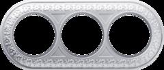 Рамка на 3 поста (жемчужный) WL70-frame-03 Werkel
