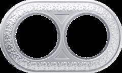 Рамка на 2 поста (жемчужный) WL70-frame-02 Werkel