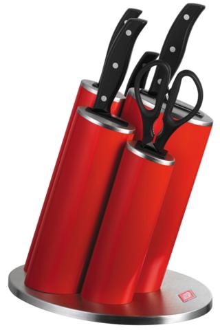 Набор из 4 ножей, ножниц и подставки Wesco 322631-02