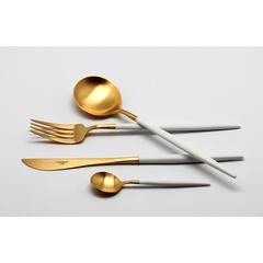 Набор столовых приборов (24 предмета / 6 персон) Cutipol GOA WHITE GOLD 9265