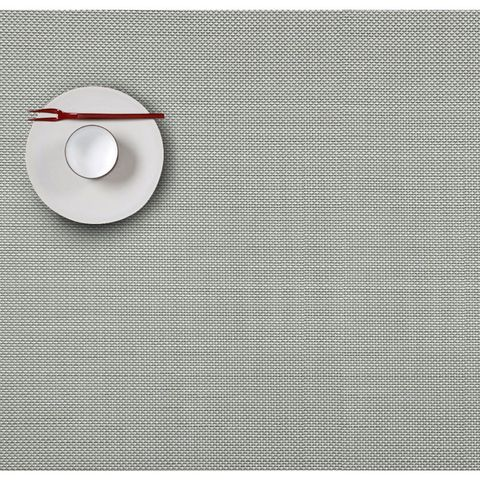 Салфетка подстановочная, жаккардовое плетение, винил, (36х48) Aloe (100132-001) CHILEWICH Mini Basketweave арт. 0025-MNBK-ALOE