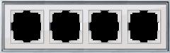 Рамка на 4 поста (хром/белый) WL17-Frame-04 Werkel