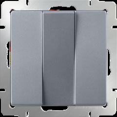 Выключатель трехклавишный  (серебряный) WL06-SW-3G Werkel
