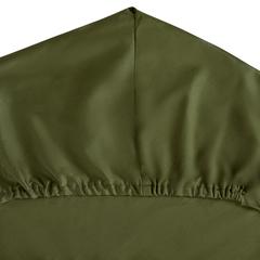 Простыня на резинке из сатина оливкового цвета из коллекции Wild, 160х200х30 см Tkano TK20-FS0012