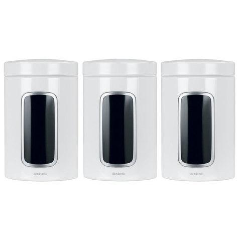 Набор контейнеров с окном 3пр (1,4л) Brabantia 151224