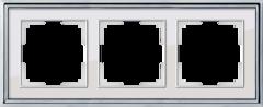 Рамка на 3 поста (хром/белый) WL17-Frame-03 Werkel