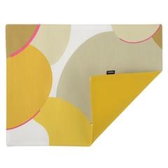 Cалфетка двухсторонняя под приборы из хлопка горчичного цвета с авторским принтом из коллекции Freak Fruit, 35х45 см Tkano TK20-PM0006