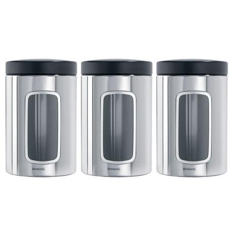 Набор контейнеров с окном 3пр (1,4л) Brabantia 247286