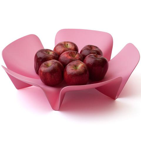 Ваза для фруктов flower розовая QL10041-PK