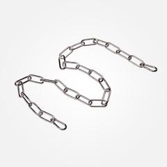 Цепь 1 м Eurosvet  10300 цепь длиной 1 метр с  2 карабинами хром, арт. 73023