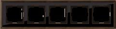 Рамка на 5 постов (бронза/черный) WL17-Frame-05 Werkel