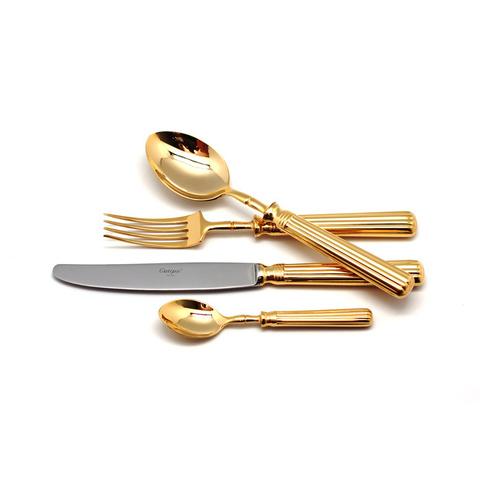 Набор столовых приборов (24 предмета / 6 персон) Cutipol LINE GOLD 9171
