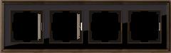 Рамка на 4 поста (бронза/черный) WL17-Frame-04 Werkel