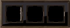 Рамка на 3 поста (бронза/черный) WL17-Frame-03 Werkel