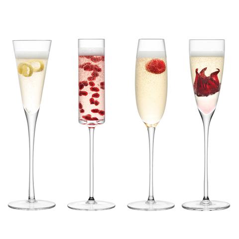 Бокал-флейта для шампанского Lulu 4 шт. LSA G1070-00-301