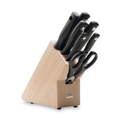 Набор из 5 кухонных ножей, мусата, ножниц и подставки WUSTHOF Silverpoint арт. 9864
