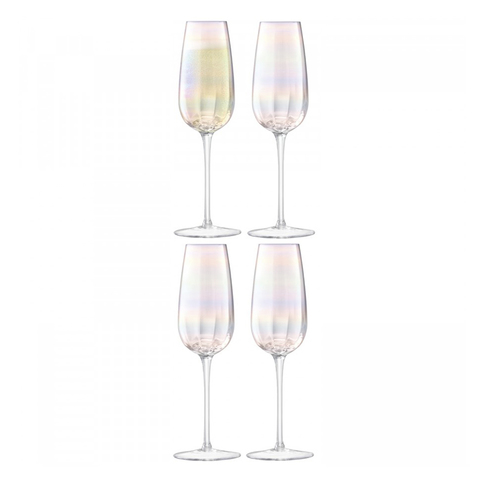 Бокал-флейта для шампанского Pearl 4 шт. LSA G1332-09-401