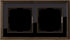 Рамка на 2 поста (бронза/черный) WL17-Frame-02 Werkel