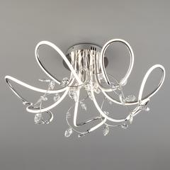 Светодиодный потолочный светильник с хрусталем Eurosvet Irvine 90106/7 хром