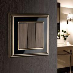 Рамка на 1 пост (бронза/черный) WL17-Frame-01 Werkel