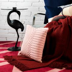 Подушка декоративная cтеганая из хлопка цвета пыльной розы из коллекции Ethnic, 45х45 см Tkano TK19-CU0008
