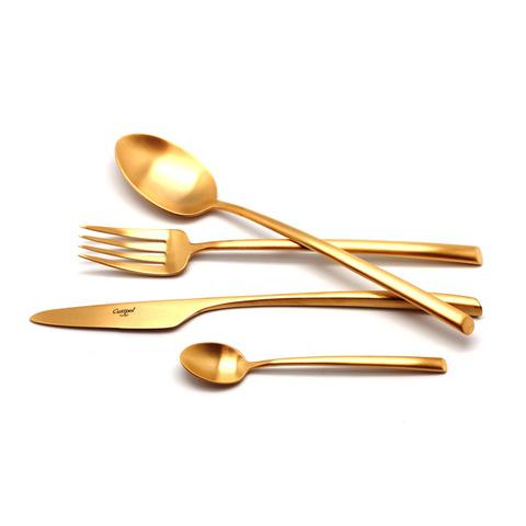 Набор столовых приборов (24 предмета / 6 персон) Cutipol MEZZO GOLD 9302